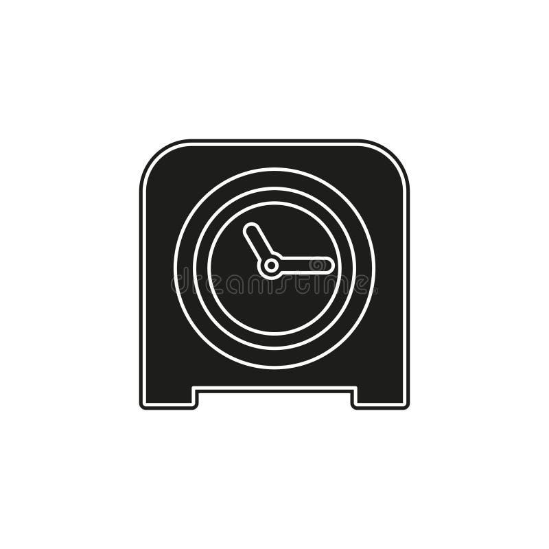 Table clock icon, timer alarm illustration. watch time sign symbol stock illustration