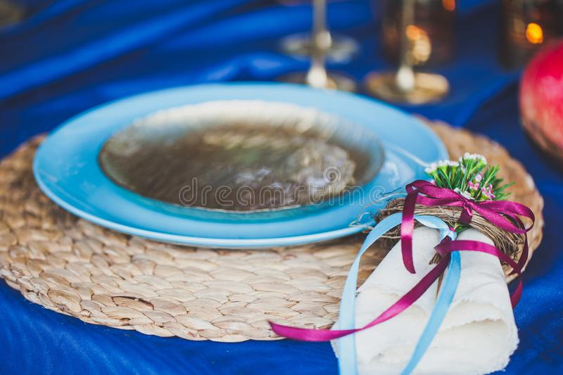 Waiting for a romantic dinner. royalty free stock photos