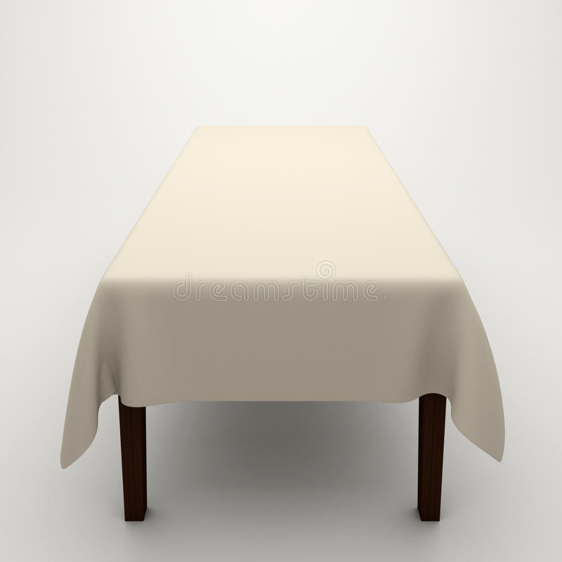 Download Table covered with a cloth stock illustration. Illustration of white - 16070861