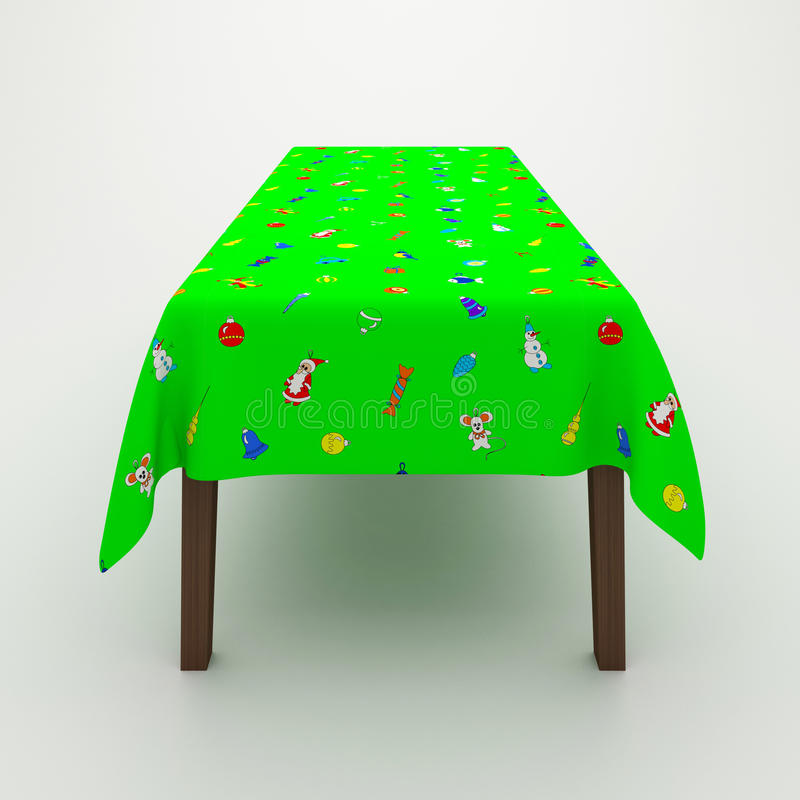 Table Covered With A Cloth Royalty Free Stock Photo