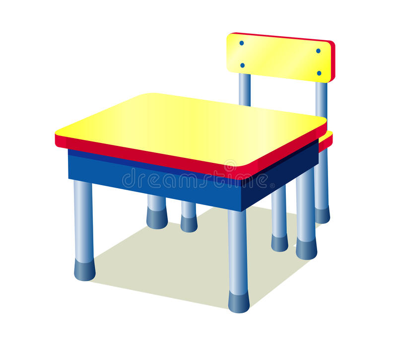 Table d'école illustration libre de droits