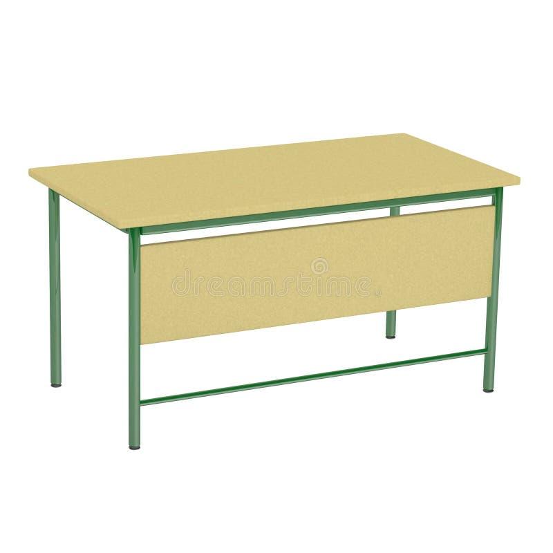 Table d'isolement d'école illustration de vecteur