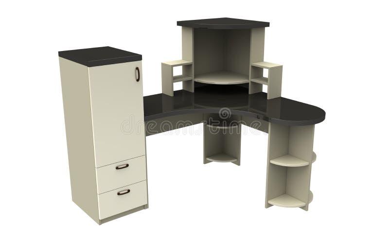 Table d'ordinateur illustration de vecteur