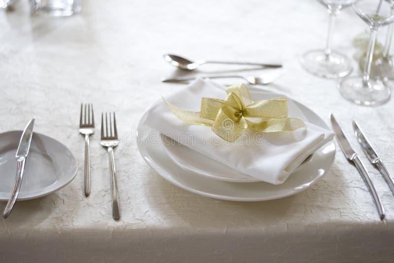 Table de banquet photographie stock libre de droits