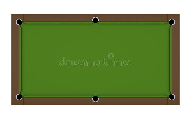 Table de billard vide illustration stock