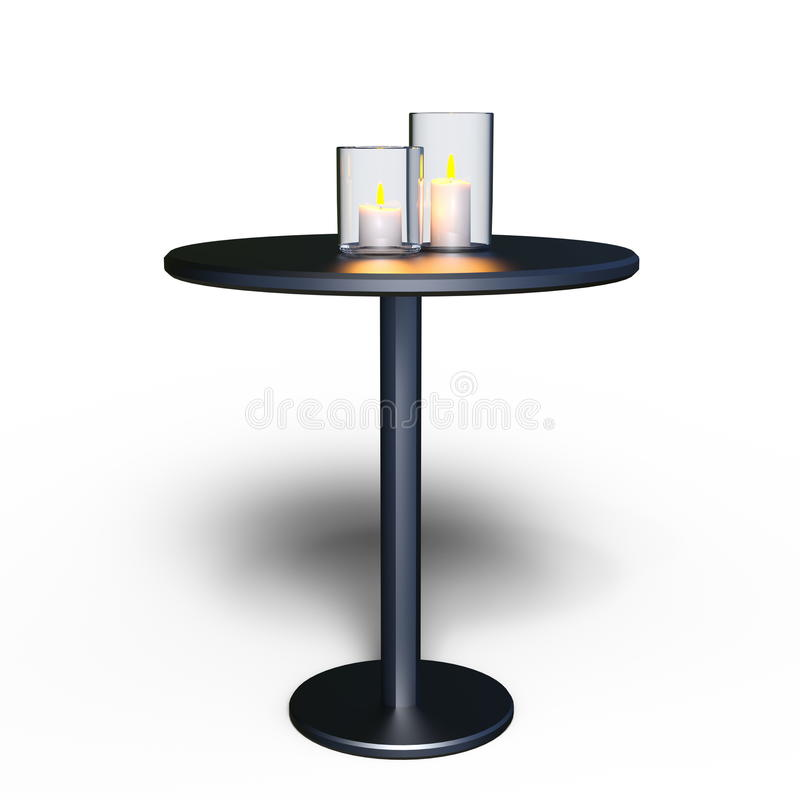 Table de bougie et de côté illustration de vecteur
