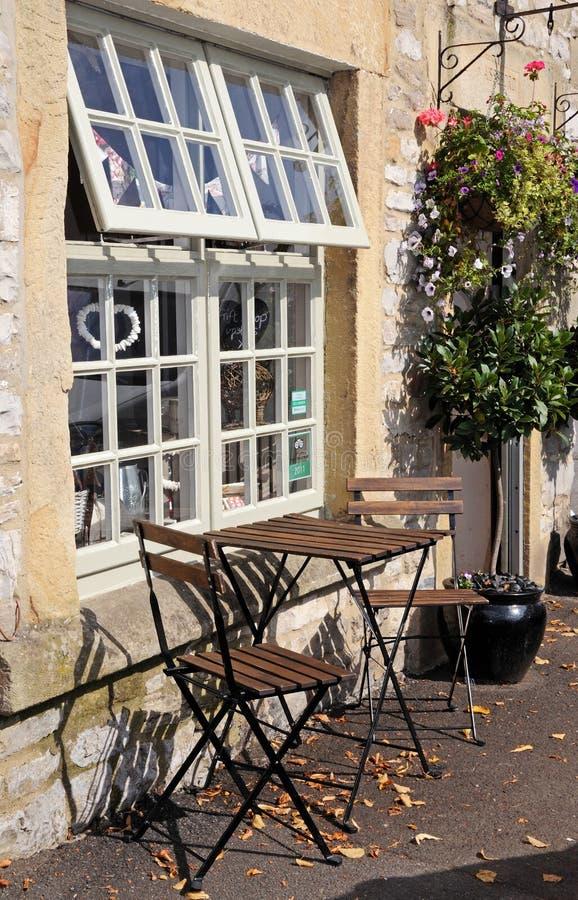 Table de café, l'Ashford-dans-le-eau images libres de droits