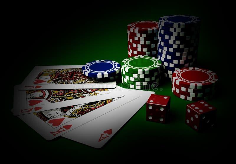Table de casino illustration stock