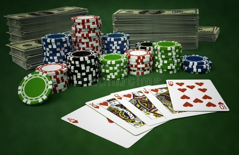 Table de casino illustration de vecteur