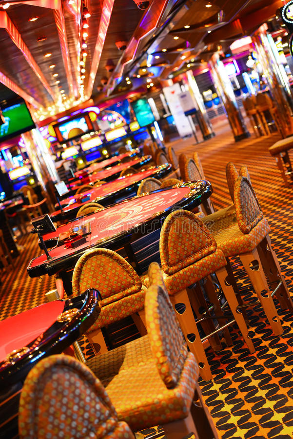 Table de casino photo stock