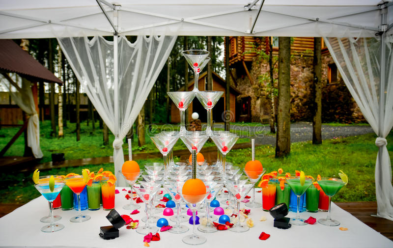 Table de cocktail originale photo stock