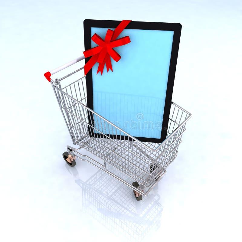Table de commerce électronique de concept illustration de vecteur