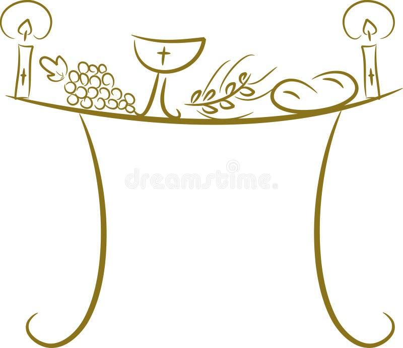 table de communion illustration stock