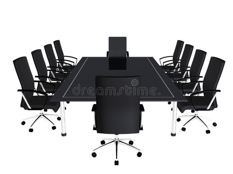 Table de conférence illustration de vecteur