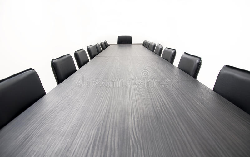 Table de conférence photos stock