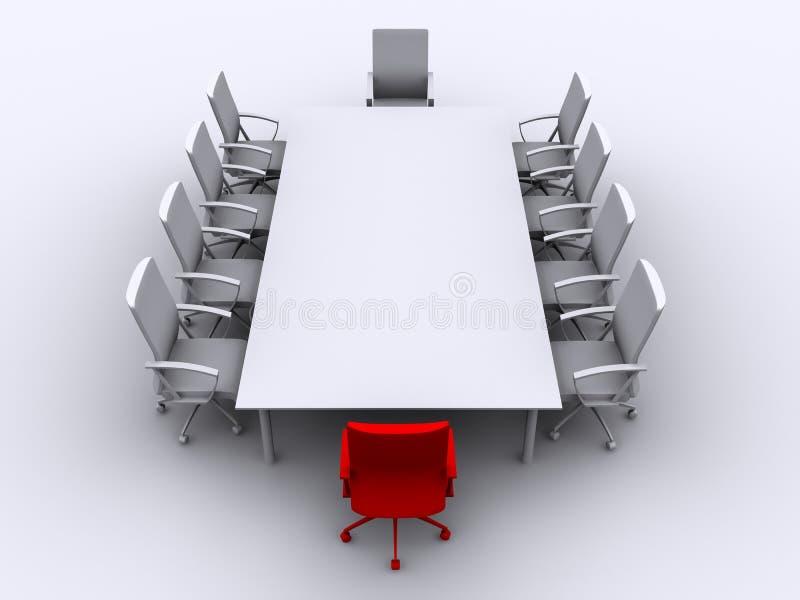 Table de conférence illustration libre de droits