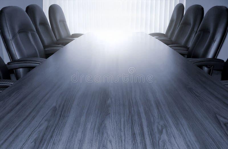 Table de conférence monotone photo libre de droits