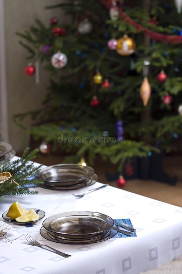 table de configuration de Noël image libre de droits