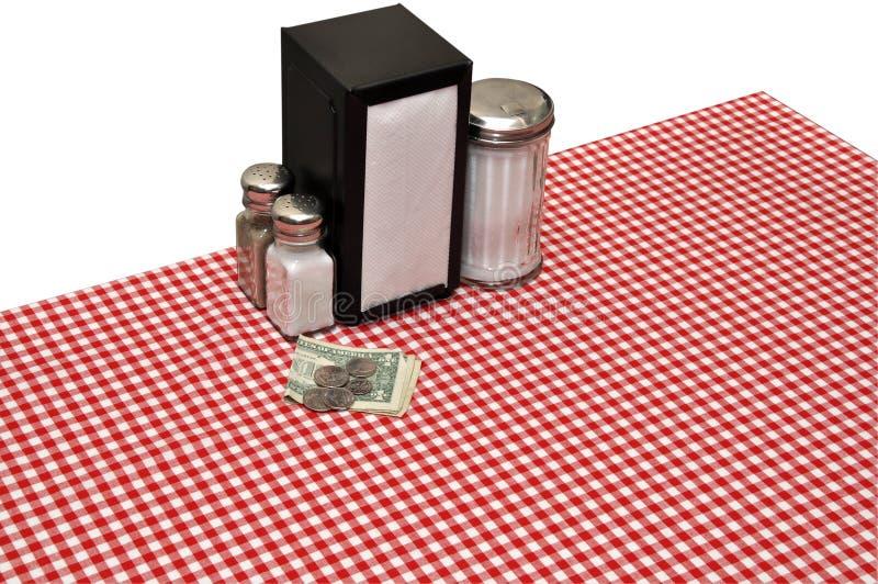 table de configuration de wagon-restaurant images libres de droits