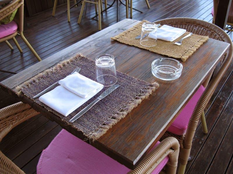 Table de configuration pour deux photo libre de droits
