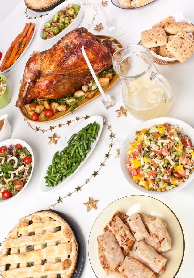 Table de dîner de Noël images stock