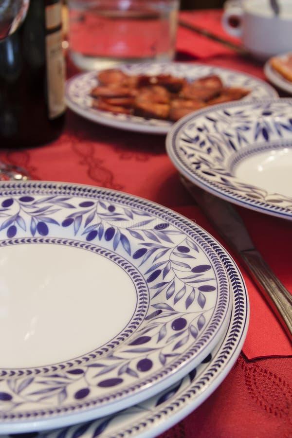 Table de dîner de Noël photo stock
