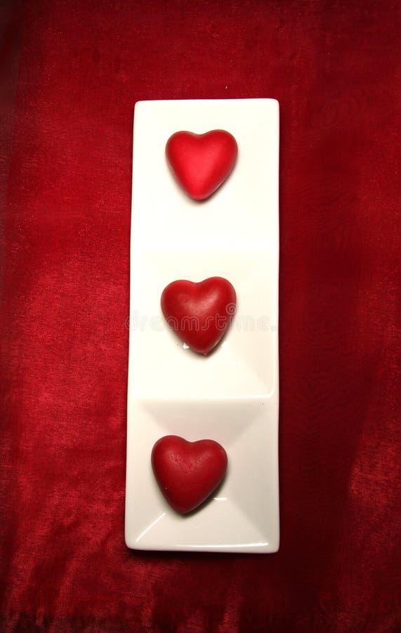 Table de dîner de Valentine images stock