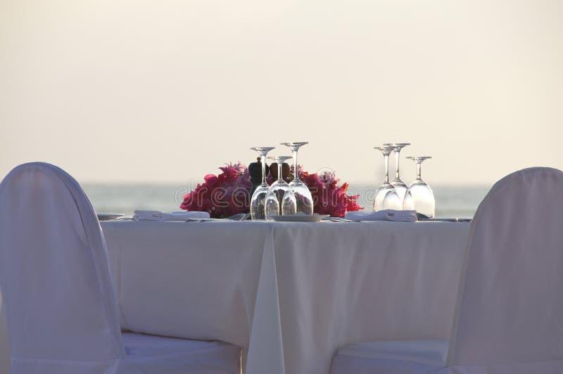 Table de dîner privé image stock
