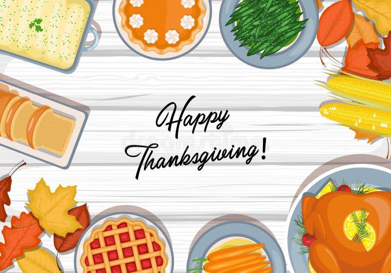 Table de dîner de thanksgiving illustration libre de droits