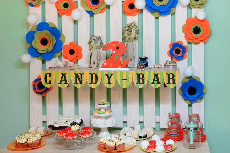 Table de dessert pour des enfants photographie stock