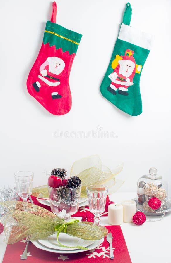 Table de fête de Noël photo stock
