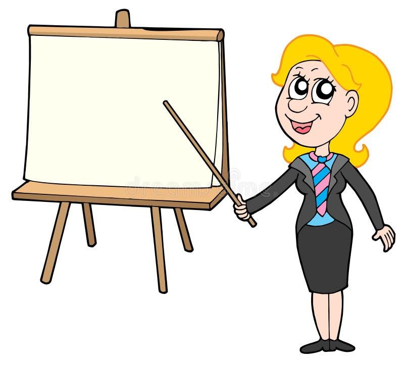 table de femme d'affaires illustration libre de droits