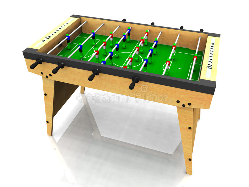 Table de Foosball. illustration libre de droits