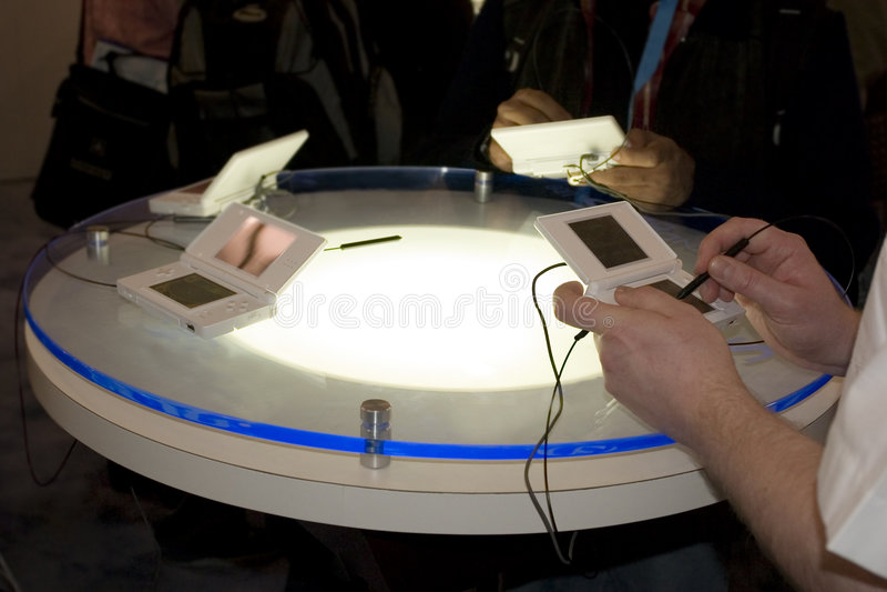 Table de jeu de console photos stock