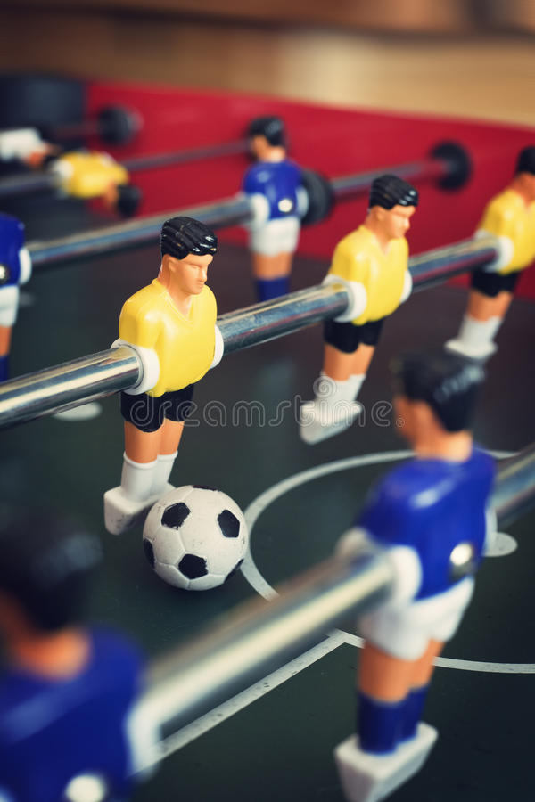 Table de jeu de Foosball photographie stock