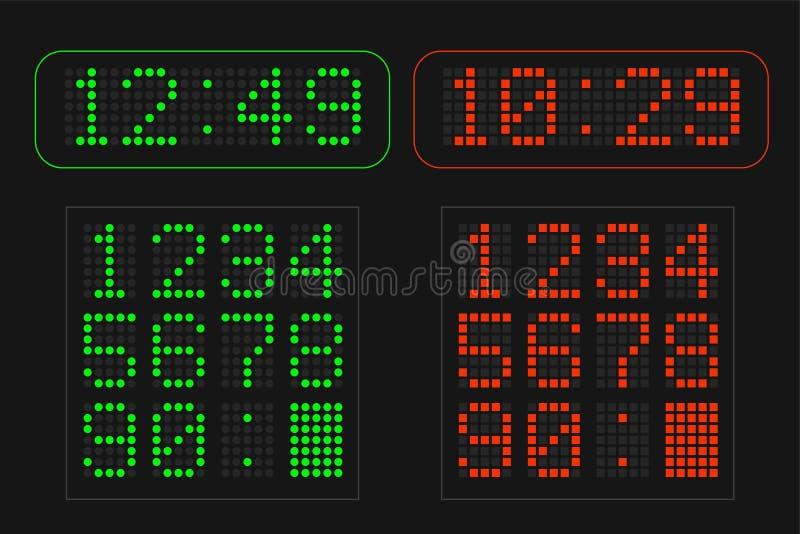 Table de l'information avec des nombres menés numériques illustration de vecteur