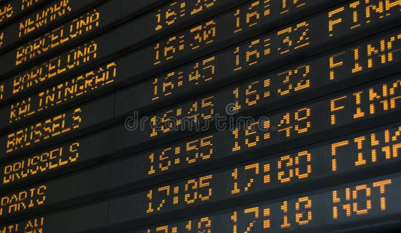 Table de l'information de temps photos stock