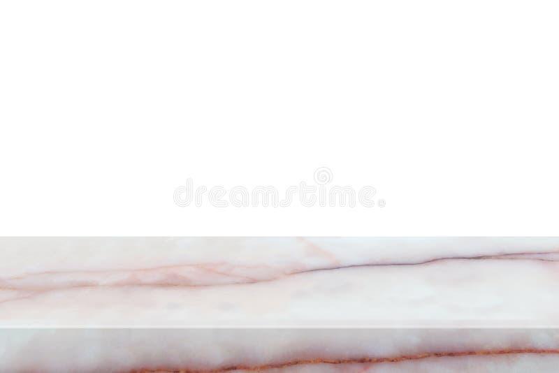 Table de marbre naturelle d'isolement sur le fond blanc photos stock