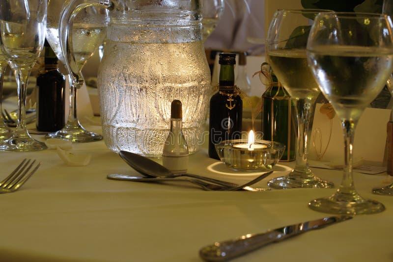 Table de mariage image stock