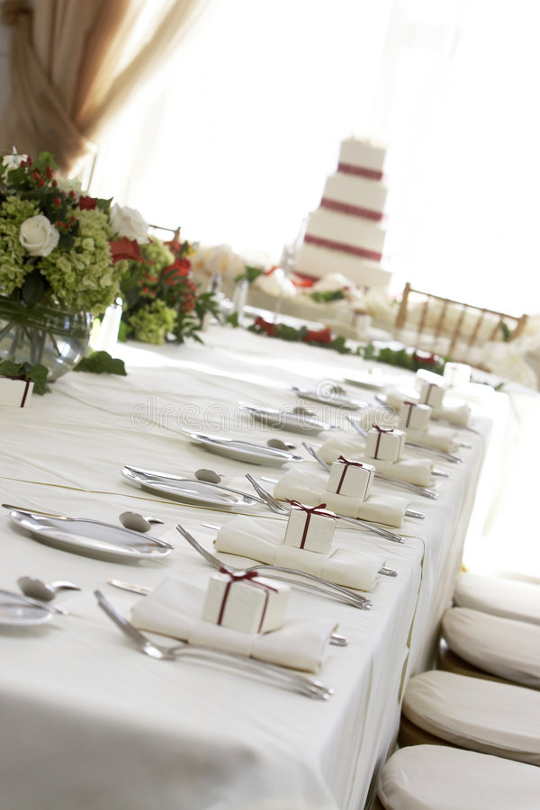 Table de mariage photos stock