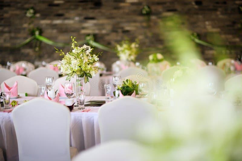 Table de mariage photo stock