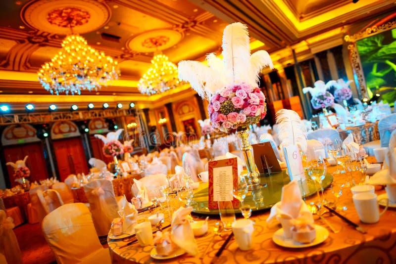 Table de mariage photos libres de droits