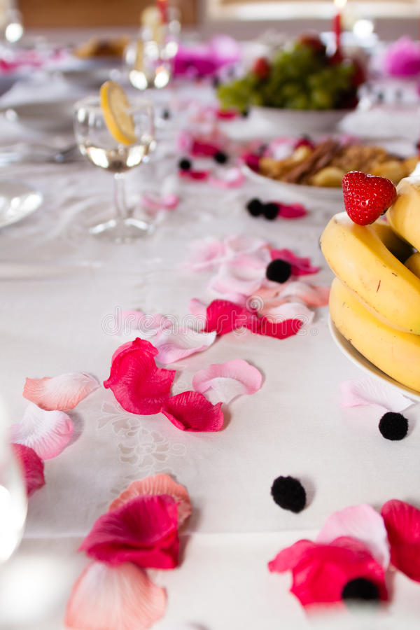 Table de mariage photos stock