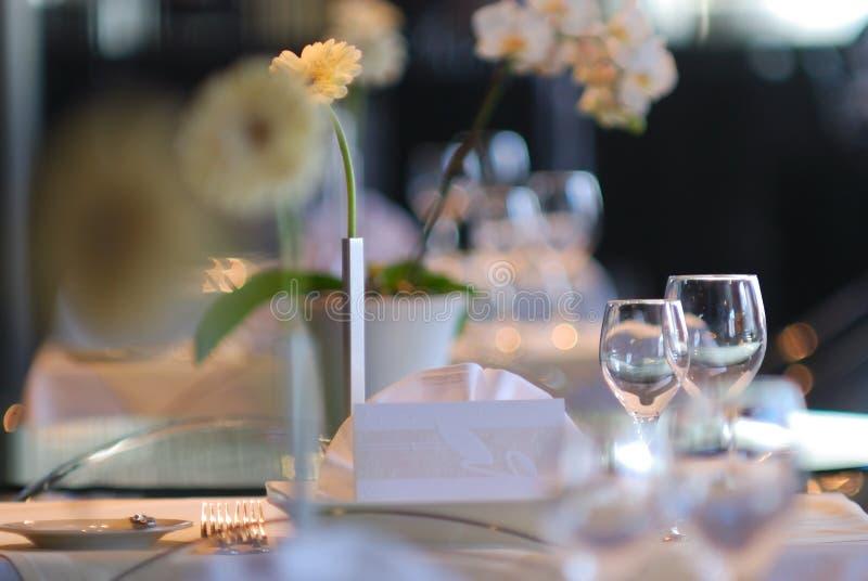 Table de mariage photographie stock libre de droits