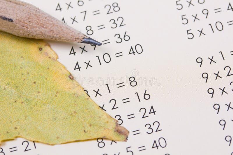 Table de multiplication image libre de droits