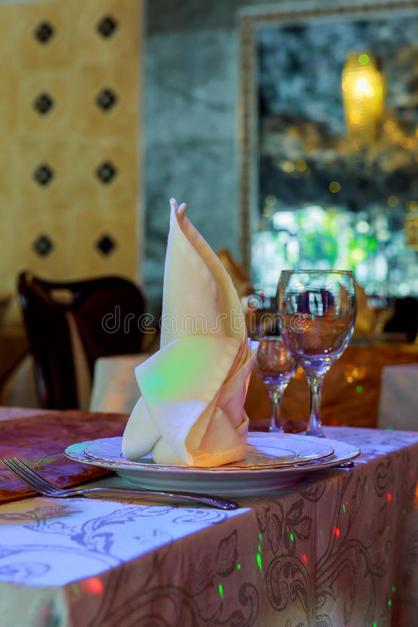 Table de portion préparée pour le mariage de partie d'événement image libre de droits