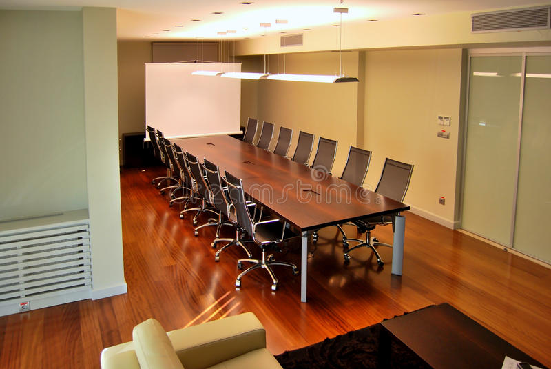 Table de réunion image libre de droits