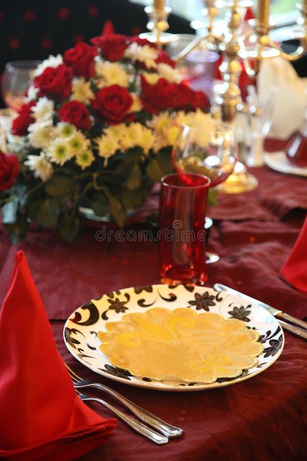 Table de restaurant photographie stock libre de droits