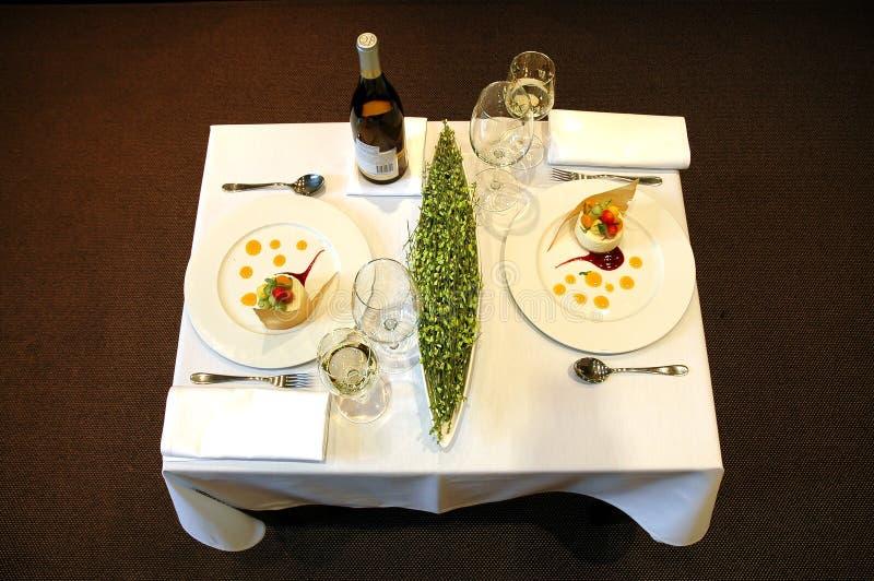 Table de restaurant photos stock