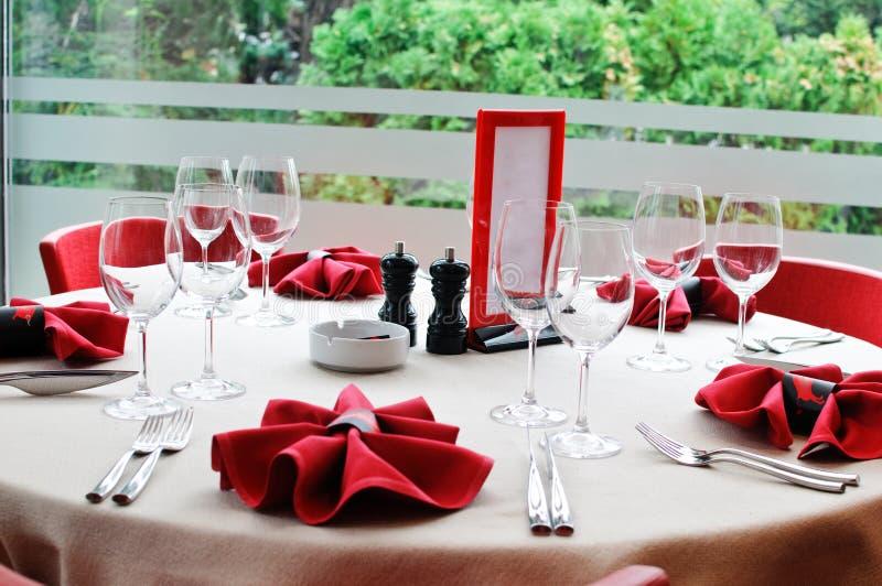 Table de restaurant photo libre de droits